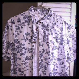 Men's Short Sleeve Shirt Button Up